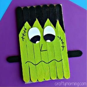 Popsicle Stick Frankenstein