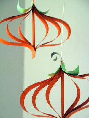 Paper Pumpkin thanksgiving craft for kids