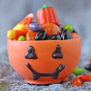 Edible Pumpkin Candy Chocolate Cups