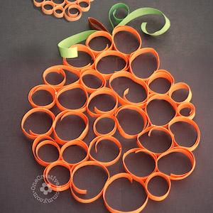 rolled Paper easy Pumpkin craft