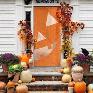 jack o lantern foil halloween door decoration