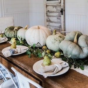 Rustic Pumpkin & Pear Centerpiece