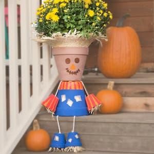 Flower Pot Scarecrow Fall Craft