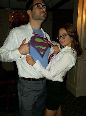 Clark Kent u0026 Lois Lane superman t-shirt black skirt u0026 pants white dress shirts black framed glasses tie  sc 1 st  Prudent Penny Pincher & 75 Easy DIY Couples Halloween Costumes - Prudent Penny Pincher