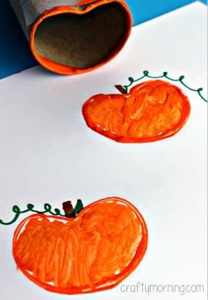 Toilet Paper Roll Pumpkin