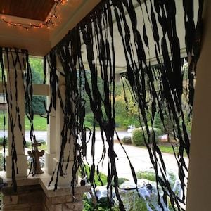 Creepy Black Curtained Porch