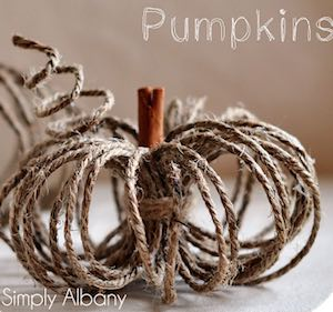 Twine Pumpkins