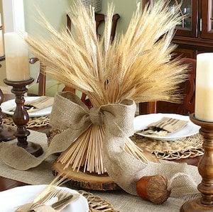 Wheat Bundle DIY Fall Centerpiece