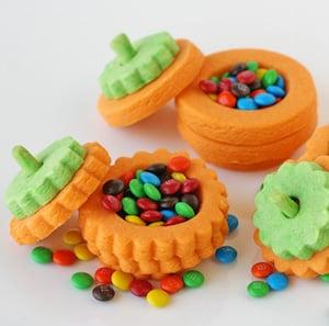 Candy Filled 3D Pumpkin Cookies
