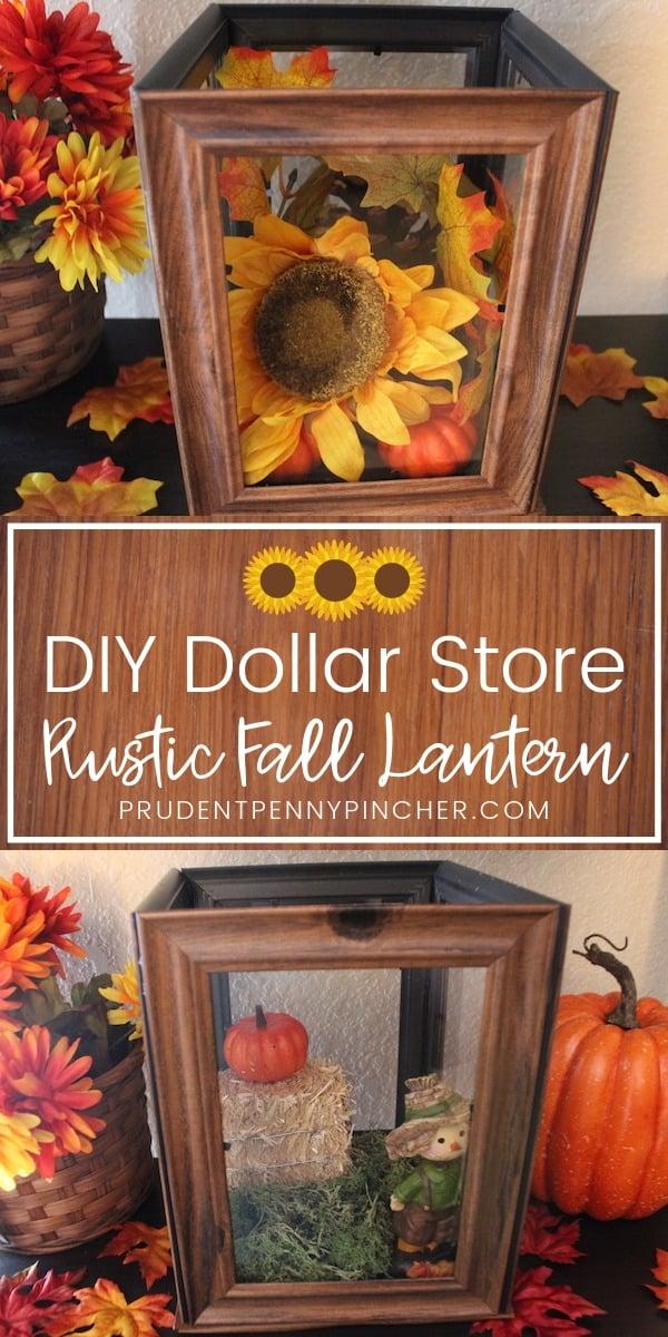 DIY Dollar Store Rustic Fall Lantern