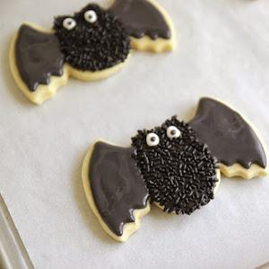 Spooky Bat Sugar Cookies