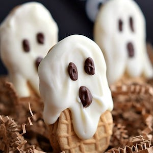 Easy Nutter Butter Ghosts