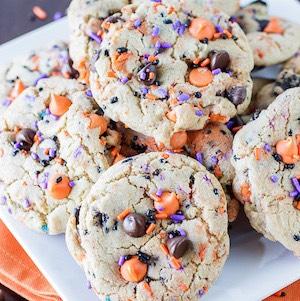 Halloween Oreo Funfetti Cookies