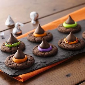 Easy Witch Hat Halloween Cookies
