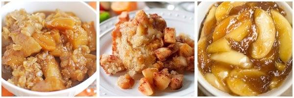 apple and pumpkin crockpot desserts