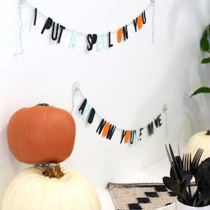 DIY Dollar Store Halloween Party Banner