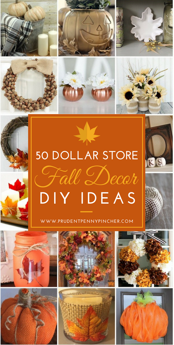 50 Dollar Store Fall Decor DIY Ideas