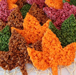 Fall Leaves Rice Krispie Treats