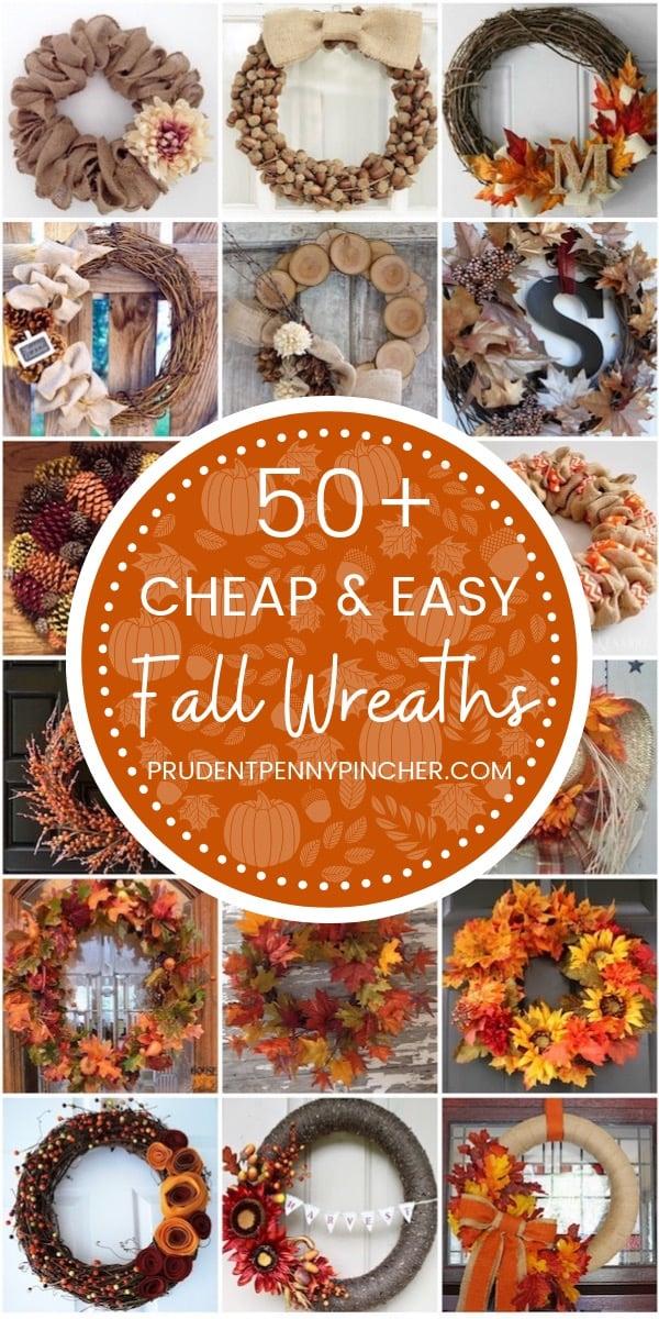 50 Cheap and Easy Fall Wreaths