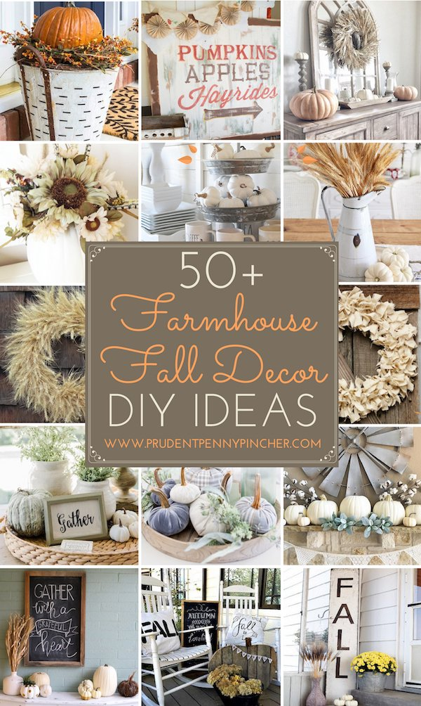 50 Best Farmhouse Fall Decor DIY Ideas