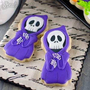 Grim Reaper Decorated Cookies