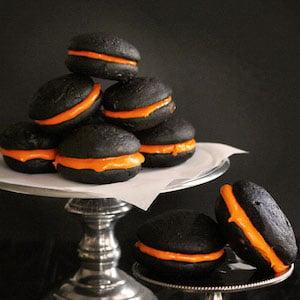 Orange and Black Velvet Whoopie Pie