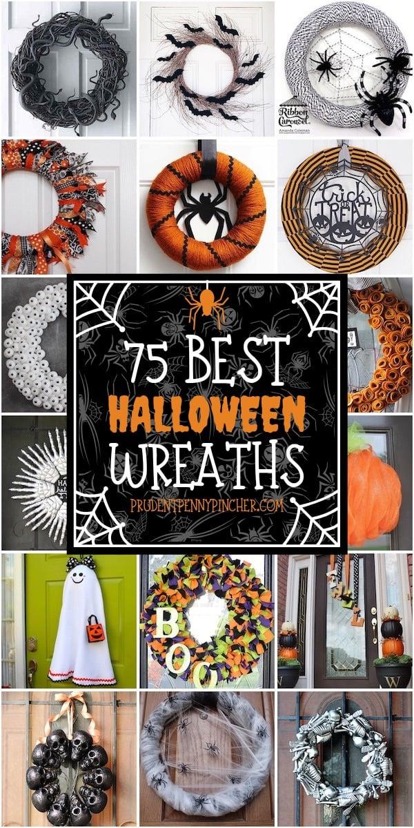 75 Best Diy Halloween Wreaths Prudent Penny Pincher