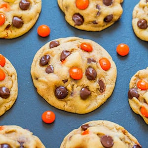 Halloween M&M Chocolate Chip Cookies