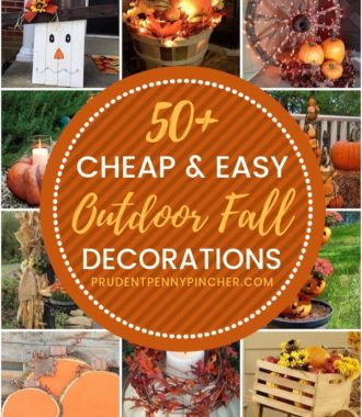 50 Cheap and Easy Outdoor Fall Decorations