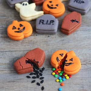 Trick or Treat Halloween Candy Stuffed Cookies