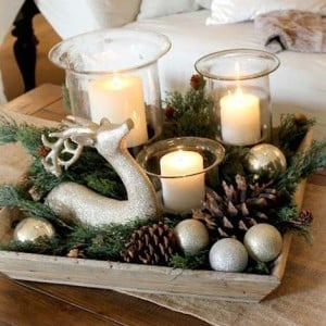 Simple Christmas Table Decor from Edith and Evelyn