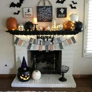 Happy Halloween Banner Mantel