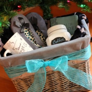Christmas gift basket for her