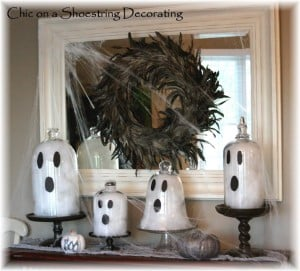 Ghost Cloches Mantel