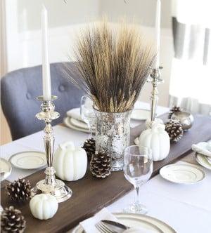 DIY Rustic Thanksgiving Wood Table Runner