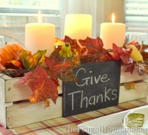 Painted Thanksgiving Centerpiece Box Paint Primer In One Wood 2 Rectangle Plaques Chalkboard Sandpaper Dark Walnut Stain Fall