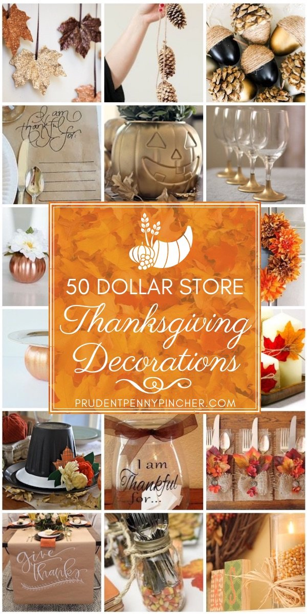 50 Dollar Store Thanksgiving Decorations Prudent Penny Pincher