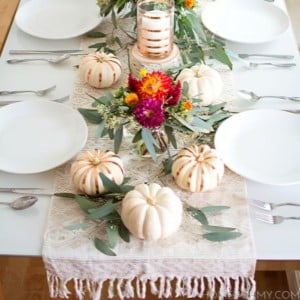 Metallic Thanksgiving Table Decor