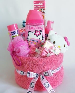 hello kitty towel wrap gift source unknown