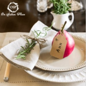 Simple & Natural Thanksgiving Table Setting
