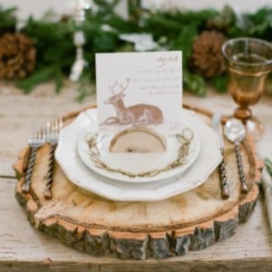 Rustic Woodland Holiday Table Decor