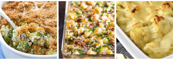 Broccoli and Cauliflower Thanksgiving Casseroles