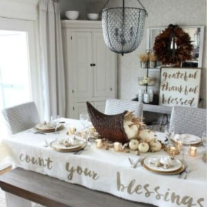 Count Your Blessings Thanksgiving Tablescape