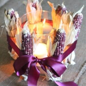 DIY Dried Corn Centerpiece