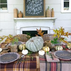 Gather Around The Table Thanksgiving Decor