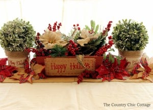 diy christmas centerpiece from shanty 2 chic - Rustic Christmas Centerpieces