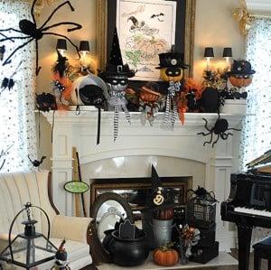 cute Halloween Mantel