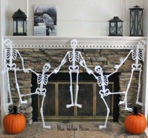 Skeleton Garland for the Mantel