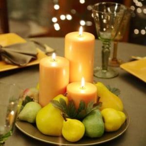 DIY Thanksgiving Pear Centerpiece