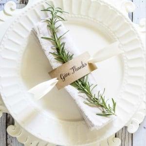 Thanksgiving Napkin Ring Table Decor